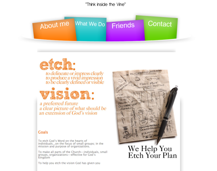 Etch A Vision Website