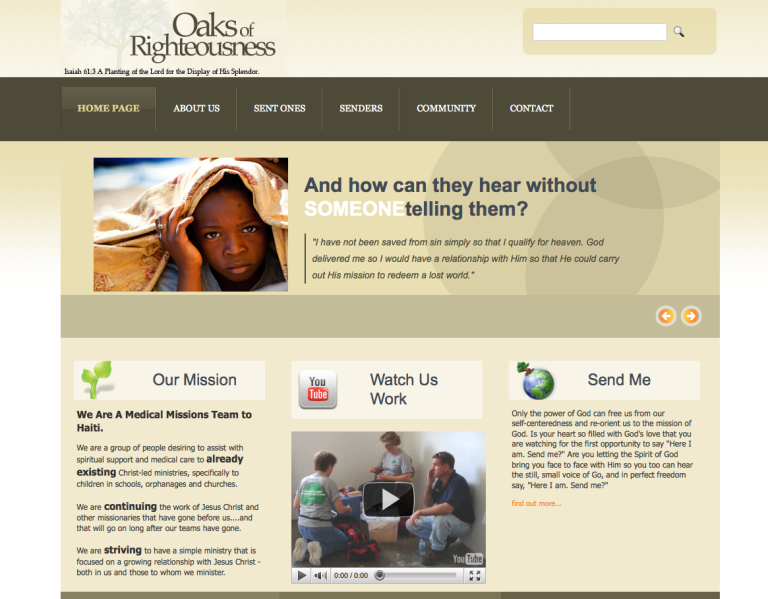 Oaks Of Righteousness Website