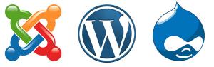 Drupal, WordPress, Joomla